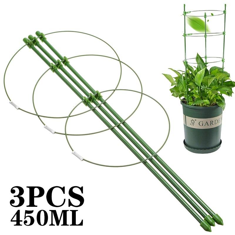 Monture de Support pour plantes 3 pièces   support Durable pour plantes grimpantes, hauteur de 450mm, outils de jardin, treillis de légumes, Support pour plante