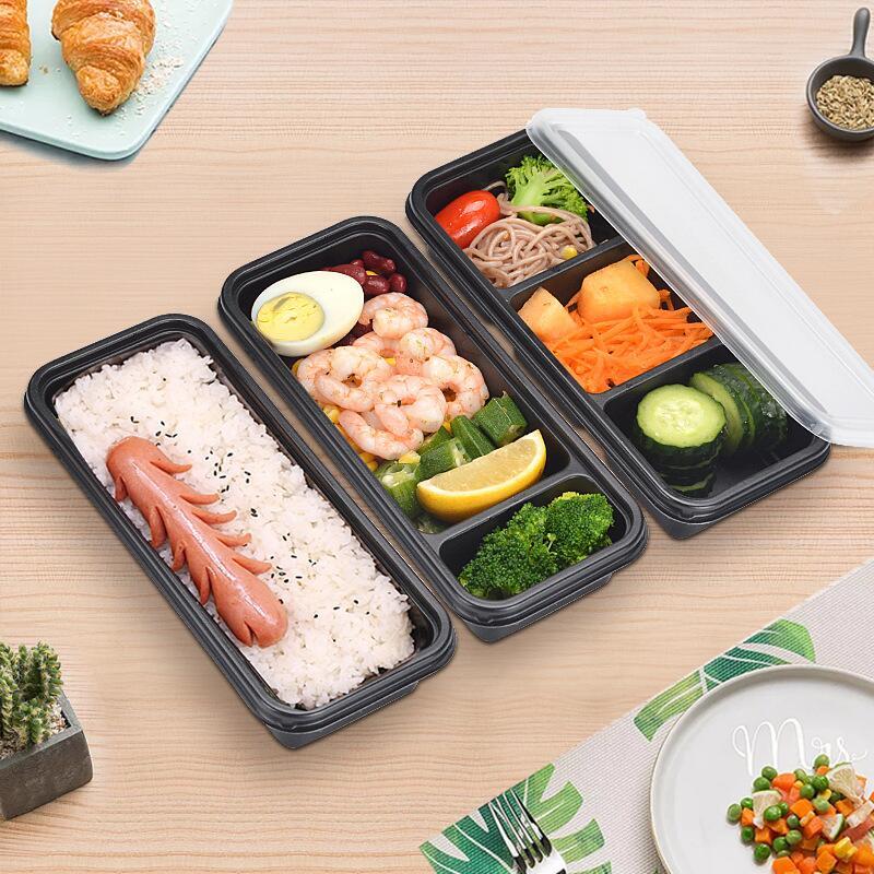 حاوية تخزين طعام بلاستيكية يمكن التخلص منها في الميكروويف ، صندوق تخزين الطعام للاستخدام المنزلي والمطبخ LX7705