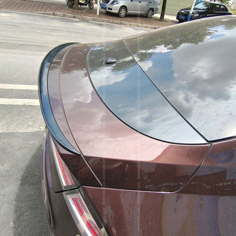 For NEW Lincoln MKZ Spoiler Accessories  PU Material CAR Trunk Blck Rear Lip WING Tail Diffuser Body