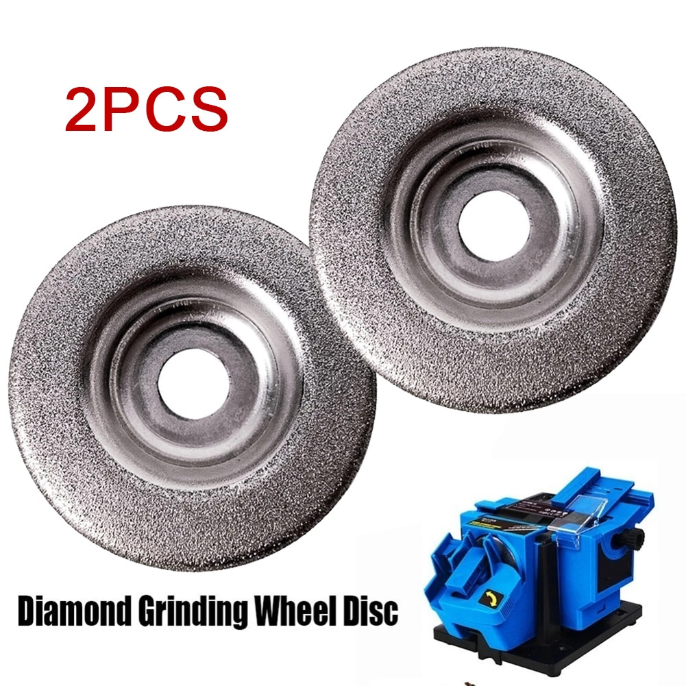 2pcs 50mm Diamond Grinding Wheel Circle Disc Electric Multifunctional Sharpener