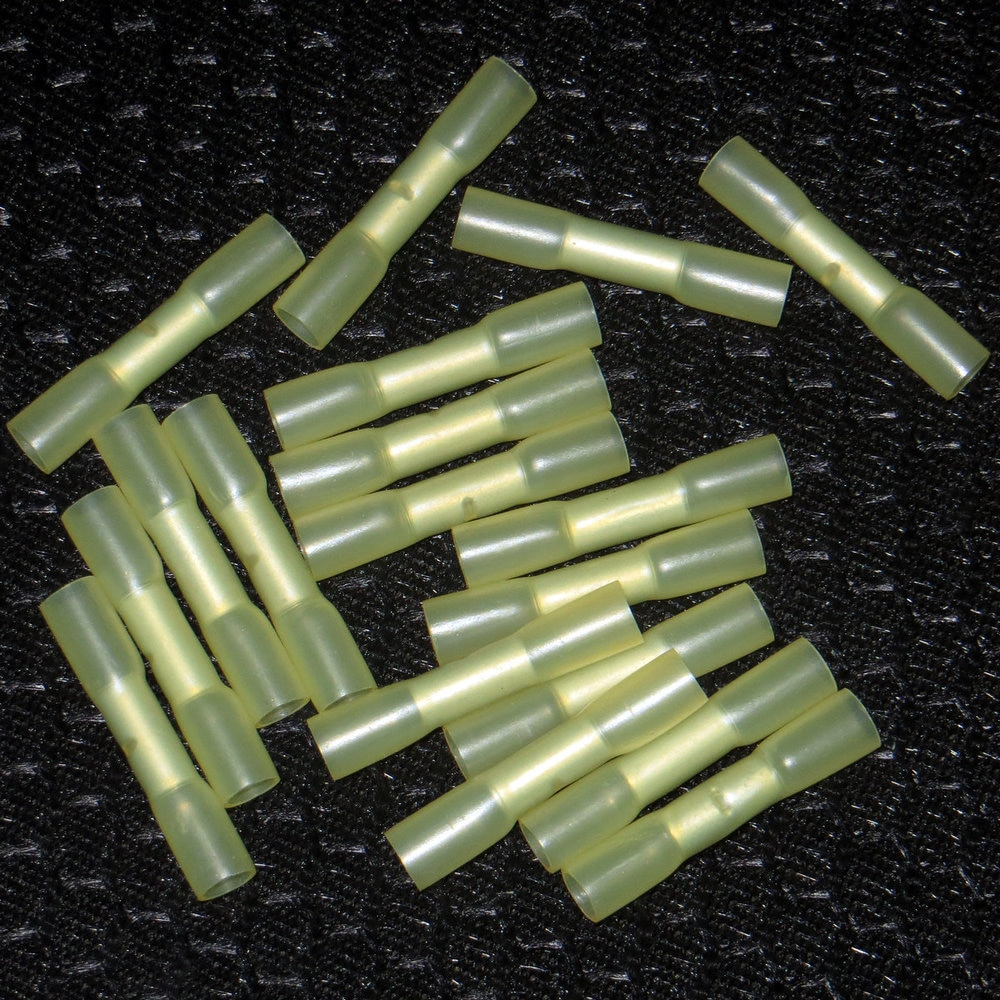 50 Uds. Terminales de conector de empalme a tope DuraSeal amarillo 12-10 AWG