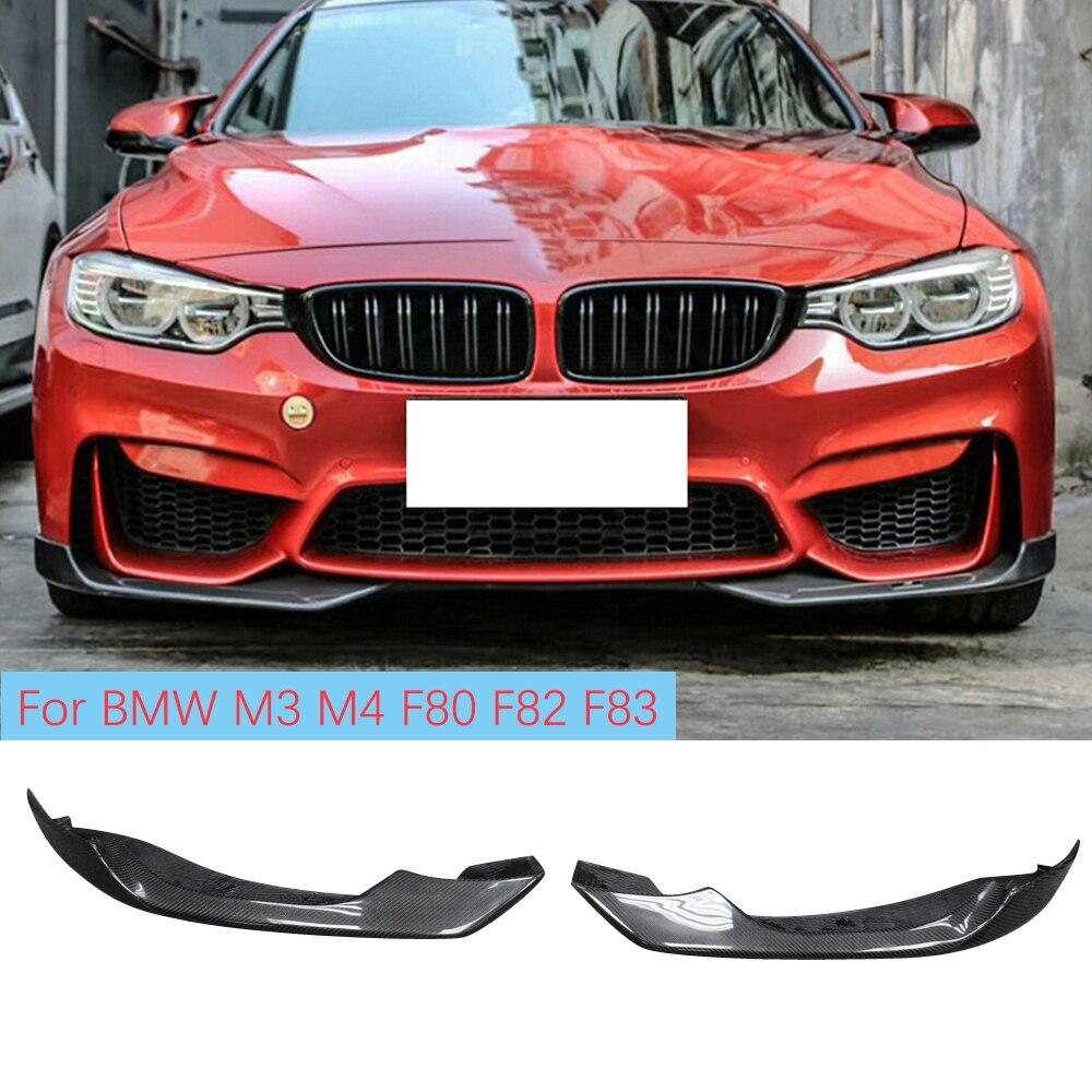 جناح المصد الأمامي لسيارات BMW ، جناح ألياف الكربون لسيارات BMW F80 M3 F82 F83 M4 Sedan Coupe Convertible 2014 - 2018