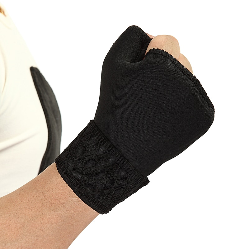 2pcs weight lifting straps over 2 3mm thick strong cotton gym padded hand bar grip with wrist support weight lifting gloves Fitness Equipment Padded Wrist Splint Thumb Brace Strap Power Weight Lifting Hand Wrap Wrist Support Gym Training Bar Wristband