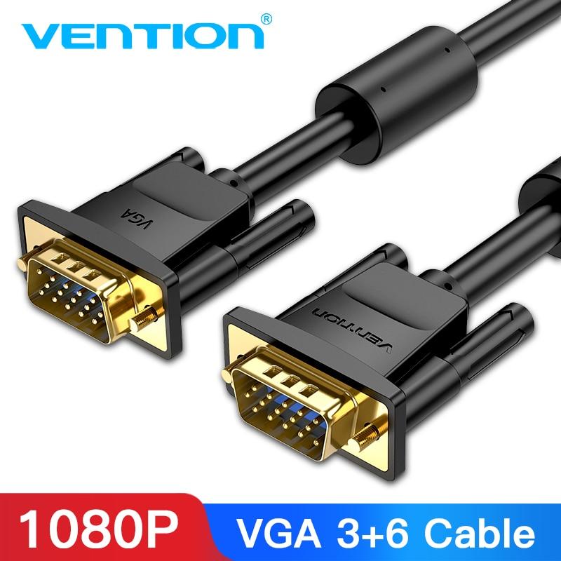 Vention-Cable VGA macho a macho, 1080P, 1m, 1,5 m, 20m, 5m, 10m,...