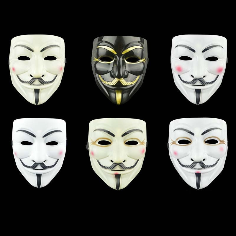Anonymous Cosplay Masks For Halloween Masks Movie Cosplay V For Vendetta Pineapple Mask Party Mask Props Theme Mask Gift For Kid halloween cosplay steampunk plague doctor mask bird beak props gothic masks