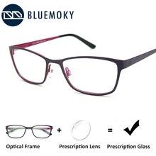 BLUEMOKY Prescription Glasses For Women Frame Myopia Anti-Blue-Ray Optical Eyeglasses Frame Hyperopi