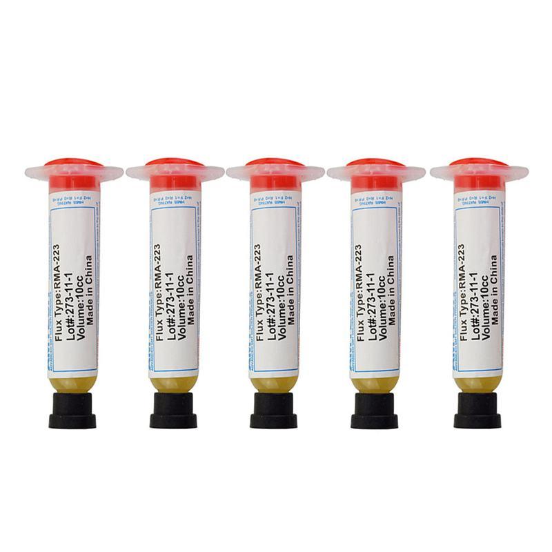 5 uds grasa fundente de pasta de soldadura, volumen 10cc, RMA-223