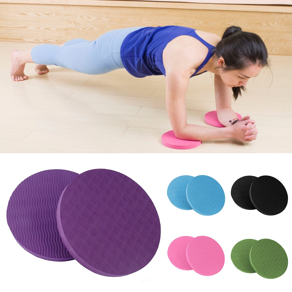 VERTVIE 2 unids/set portátil pequeño redondo rodillera esteras de Yoga para actividad física Sprot Pad Plank Gym disco almohadilla protectora almohadilla antideslizante Mat
