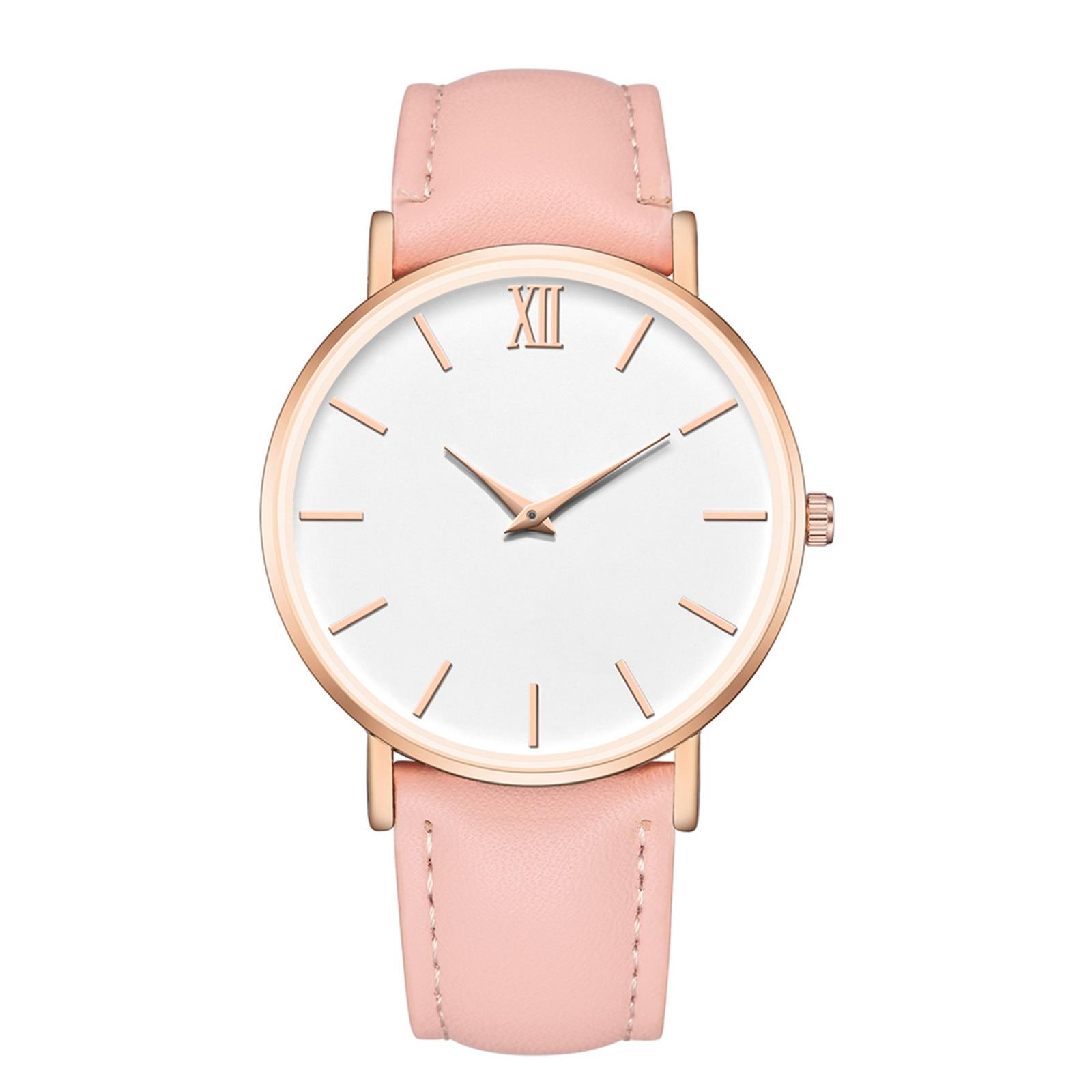 Luxury Wrist Watches Fashionable Casual Women Quartz Watch Small Strap Circular Dial Women Wathes La