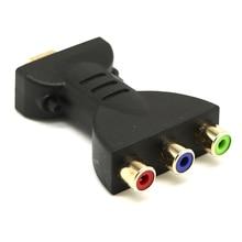 Conector HDMI macho a 3RCA hembra AV convertidor inalámbrico reemplazo cobre chapado en oro práctico adaptador de enchufe Audio Video