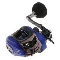 Single Handle Baitcasting Reels 6.3:1 High Speed 13+1Bearings Super Power Drag Fishing Reel Left Right Hand