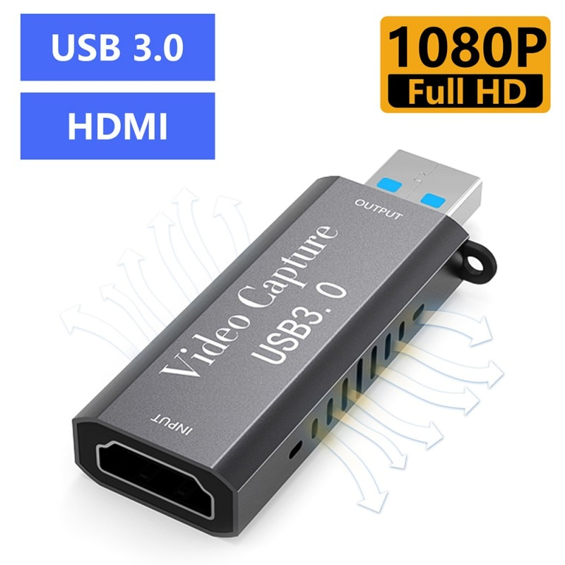 New Mini 4K Video Capture Card USB 3.0 HDMI-compatible Video Grabber Record Box For PS4 Game DVD Camcorder Camera Recording