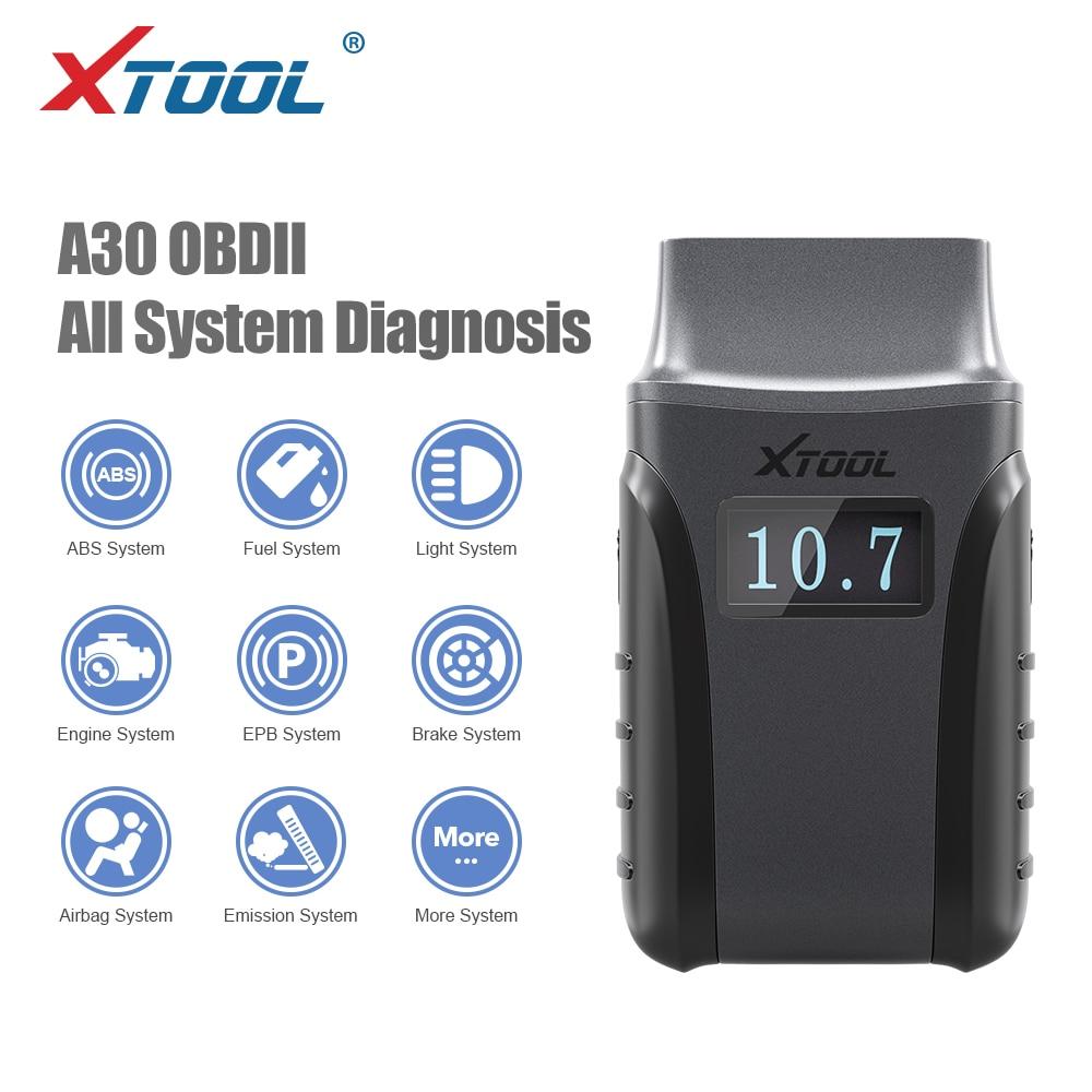 XTOOL anyecast A30 OBD2 نظام كامل تلقائي أداة تشخيص رمز القارئ DPF تجديد EPB إعادة تعيين أندرويد و IOS تحديث مجاني عبر الإنترنت