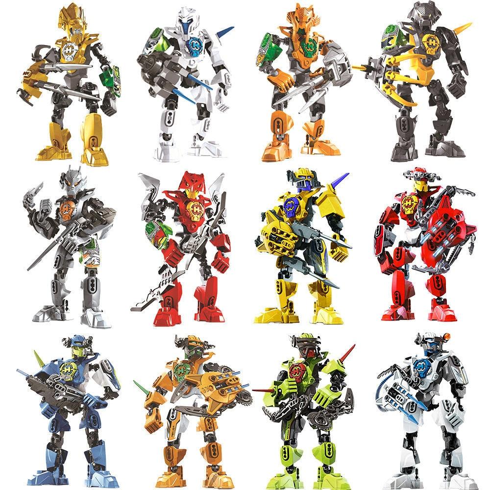 Star Warrior Soldiers Bionicle Hero Factory Surge Evo Stringer Robot Figures Building Blocks Bricks Kids Toys