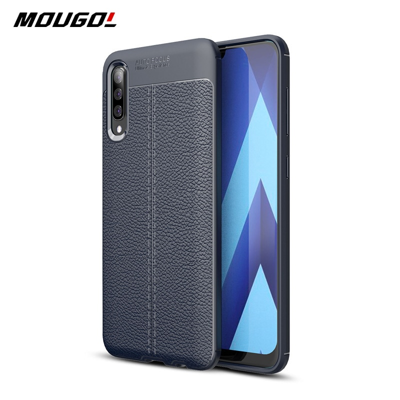 For Samsung Galax A50 Case Luxury Leather  Shockproof TPU Phone Case Silicone Bumper Phone Shell Case For Samsung  A 50 Cover