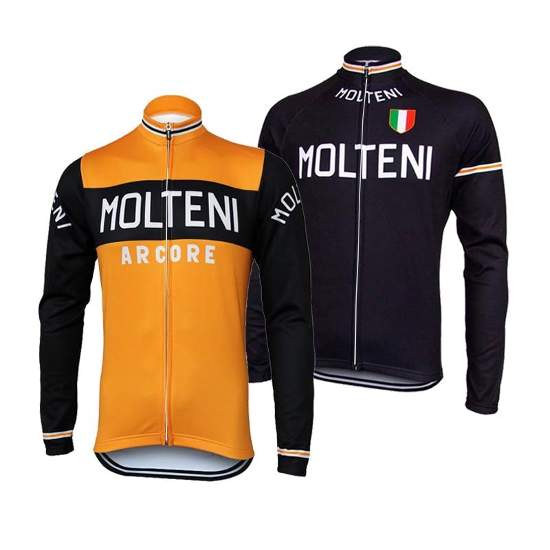 Ciclismo jérse manga larga equipo profesional de Invierno Polar o delgado Retro Molteni ropa de ciclismo Maillot ciclista/ropa de bicicleta de carretera