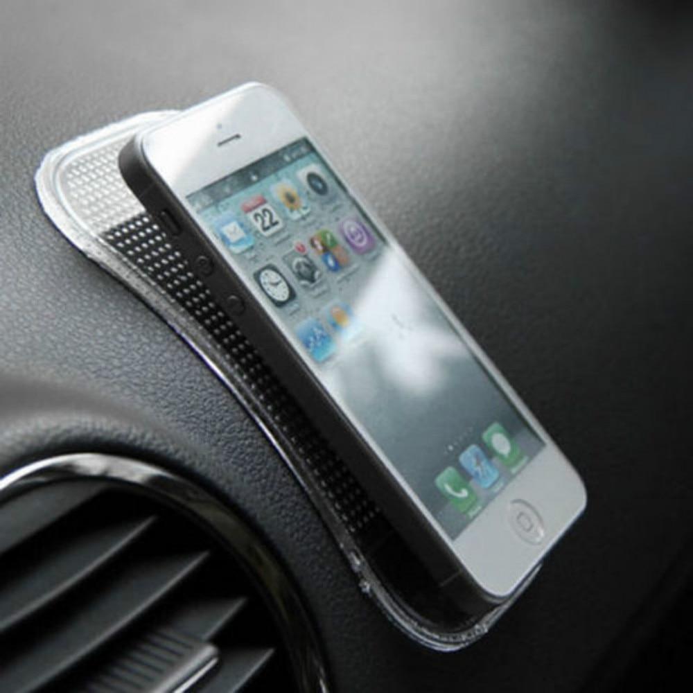 Auto Antislip Dashboard Magic Sticky Pad Anti-Slip Rubber Gel Mat Kussen Voor Iphone Mobiele Telefoon Auto interieur Accessoires Zwart