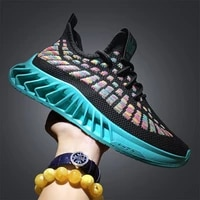 trend mens sneakers running shoes comfortable outdoor flying weave sports shoes breathable running shoes male jogging trainers