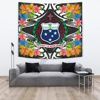 samoa tapestrys tropical flowers style 3d printed tapestrying rectangular home decor wall hanging