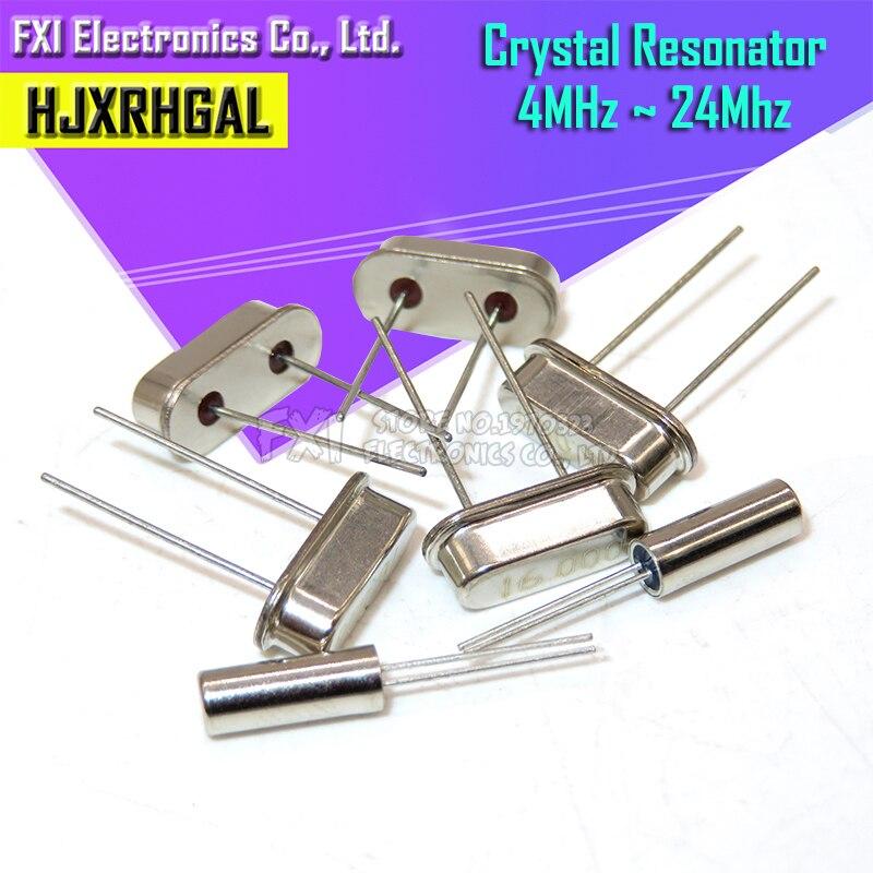 10 шт. 4 МГц 6 МГц 8 МГц 12 МГц 16 МГц 20 МГц 24 МГц 32,768 K 2*6 32,768 K 3*8 кварцевый кристалл резонатор пассивный генератор HC 49S