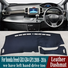 Voor Honda Freed GB3 GB4 GP3 2008 2009 2010 2011 2012 2016 Lederen Dashmat Dashboard Cover Pad Dash Mat Tapijt auto-Styling Rhd