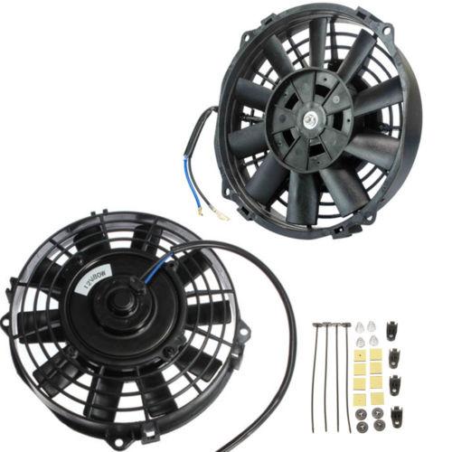 7 polegada universal ventilador de sucção automático ac ventilador elétrico ventilador de refrigeração 12 v 80watt pull push com kit montagem pacote