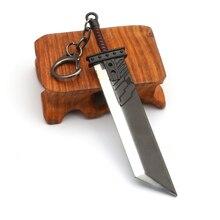 Nuage conflit Buster épée porte-clés hommes Final fantaisie 7 Remake Zack juste arme porte-clés pendentif métal jeu Cosplay llaveros
