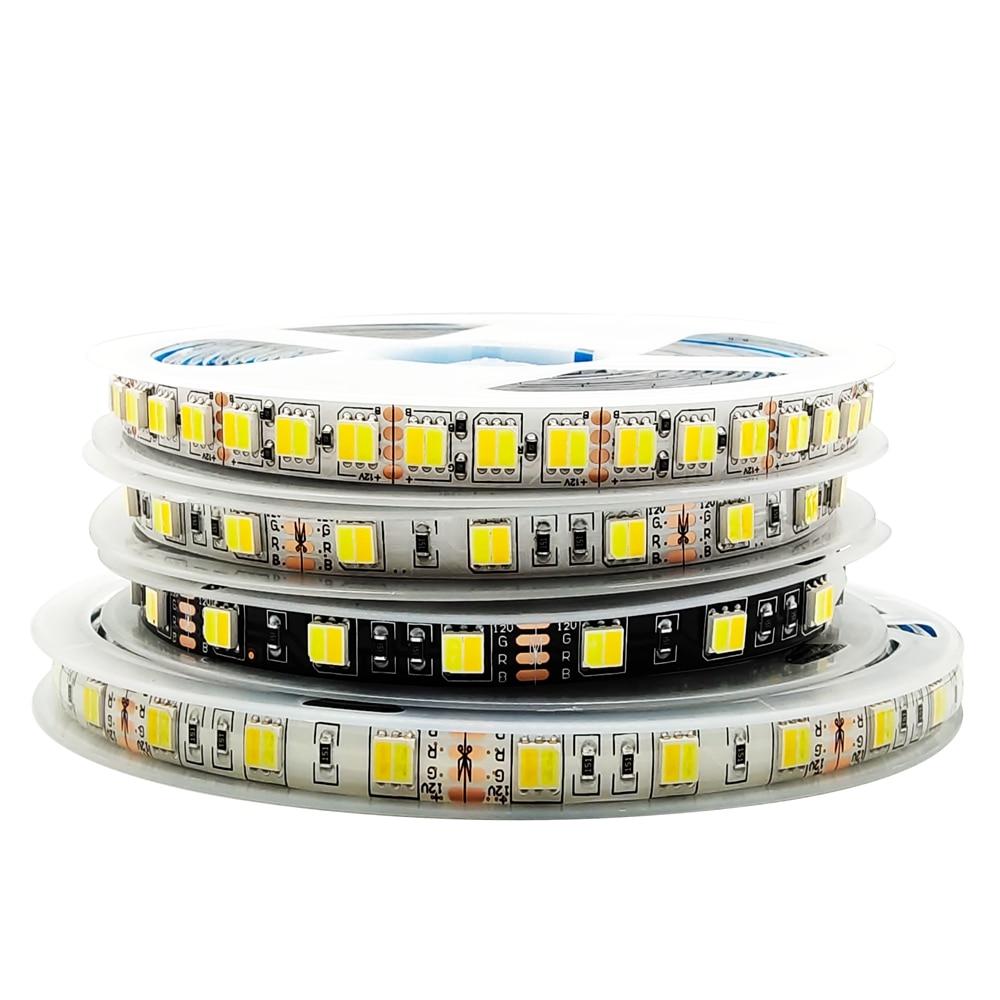 5m 5050 CCT Luces Led Streifen Licht 300/600leds Farbe Temperatur Einstellbar Weiß/Schwarz PCB DC12V/24V IP30/IP65