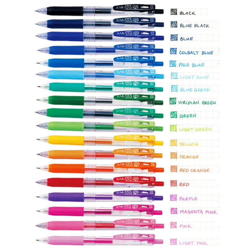 1pc Zebra Juice Gel Pen Retractable 0.5mm SARASA Clip Colored Pens for Journaling Doodling Painting Drawing Japanses Stationery