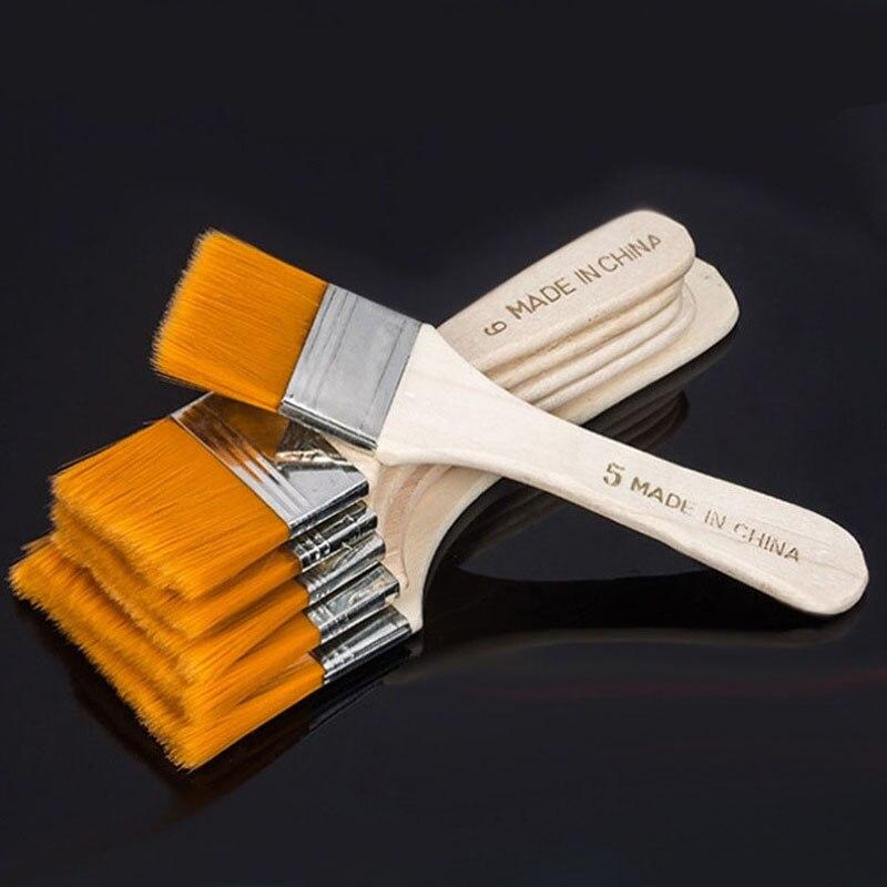 1 Uds. Pincel de nailon para pintar el cabello, acuarela al óleo, agua en polvo, Propileno acrílico, diferentes tamaños, pinceles de pintura, suministro de arte escolar