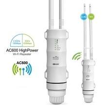 Ripetitore WiFi esterno AC600 amplificatore Router Wi Fi Booster AP esterno Extender Wi-Fi WIPS resistente alle intemperie 2.4G 5GHz punto di accesso