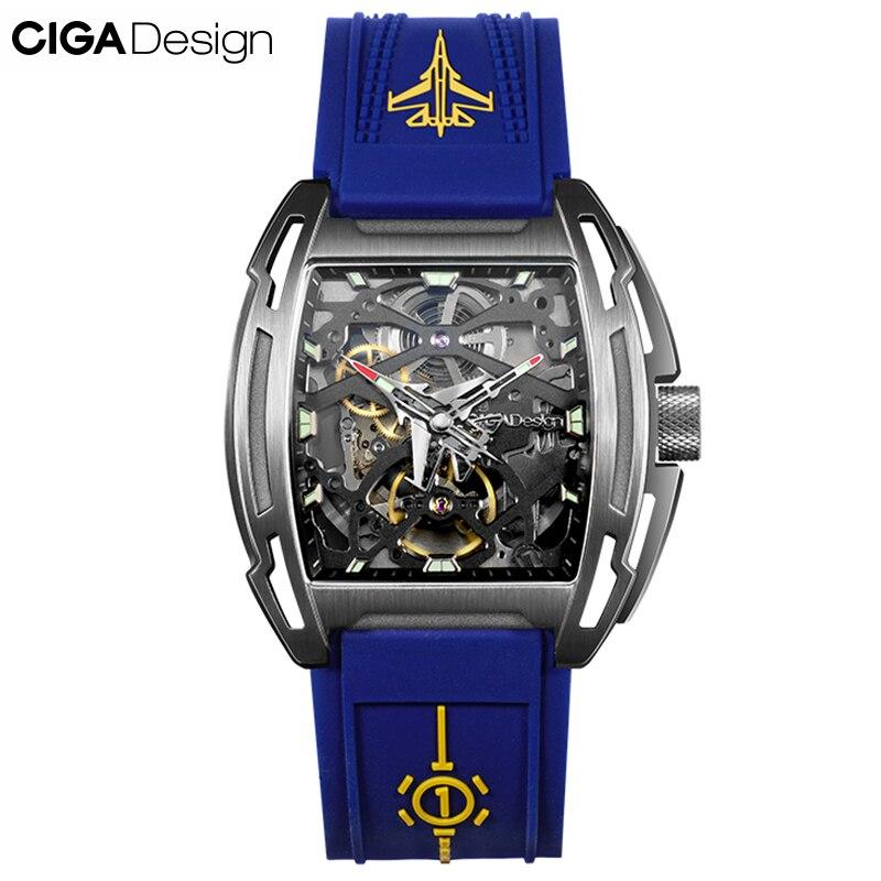 ساعات رجالي من CIGA ساعة أوتوماتيكية ميكانيكية مضيئة مقاومة للمياه ساعة بحزام من السيليكون للرجال ساعة يد غير رسمية فاخرة موديل 2020