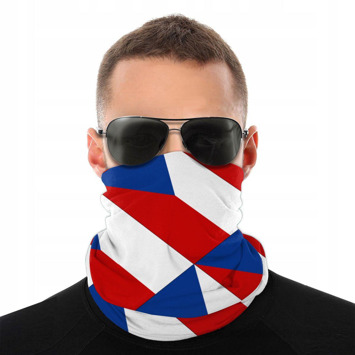 República checa lenço mágico pescoço máscara facial masculino feminino dia das bruxas pescoço mais quente sem costura bandanas poliéster headwear acampamento ao ar livre