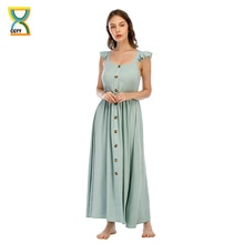 CGYY Vintage Maxi Dresses For Women Summer 2021 Ladies Floral Square Neck Beach Sarongs Women Boho G