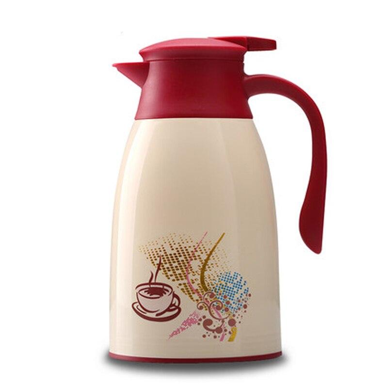 1.3L 1.6L Cartoon Café Chino caliente Drinkware agua caliente termal hervidor de agua grande té leche vidrio Liner termo