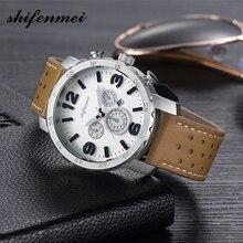 Shifenmei hommes montres étanche Date analogique Quartz hommes montres chronographe affaires montres pour hommes Relogio Masculino