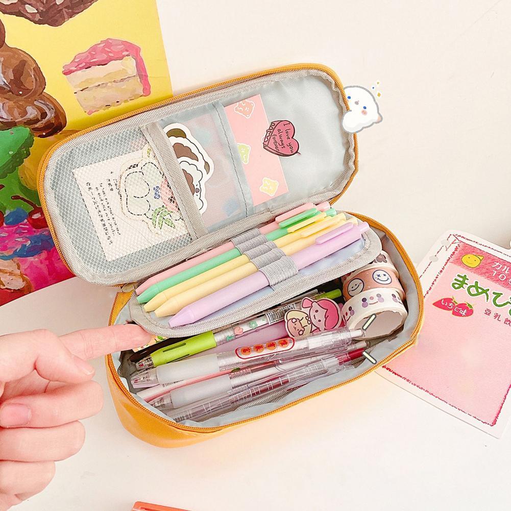 Новое поступление! Сумка для ручек, красивая Водонепроницаемая модная сумка из искусственной кожи для девочек, сумка для хранения для школы