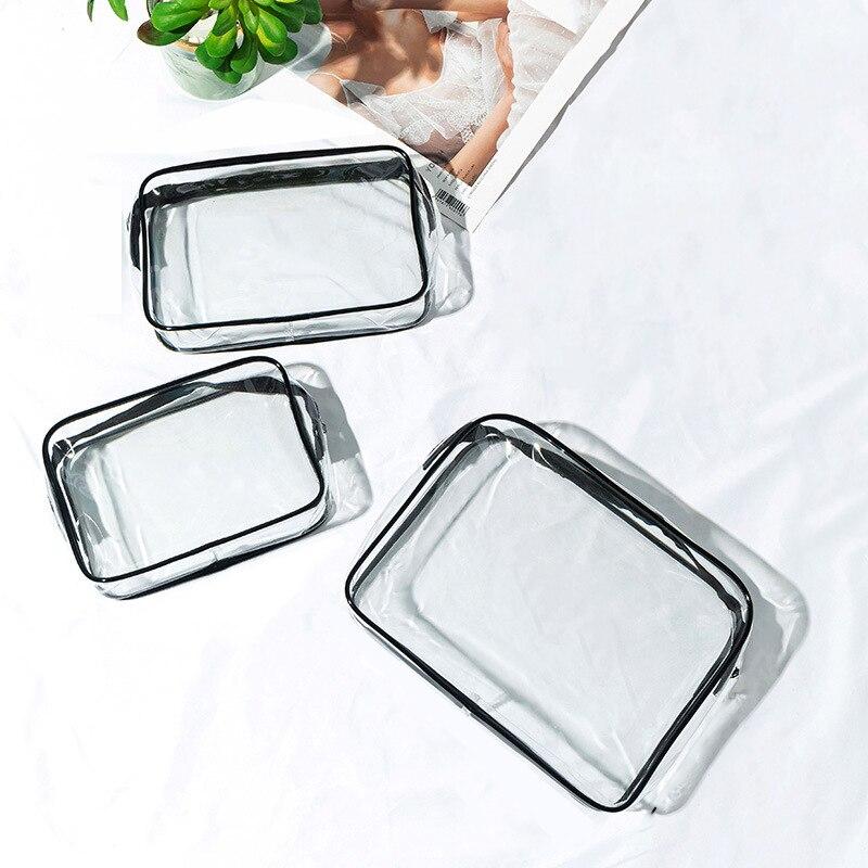 Transparent PVC Makeup Bag Cosmetic Bag Beauty Case Toiletry Bag Make Up Pouch Cosmetic Organizer La