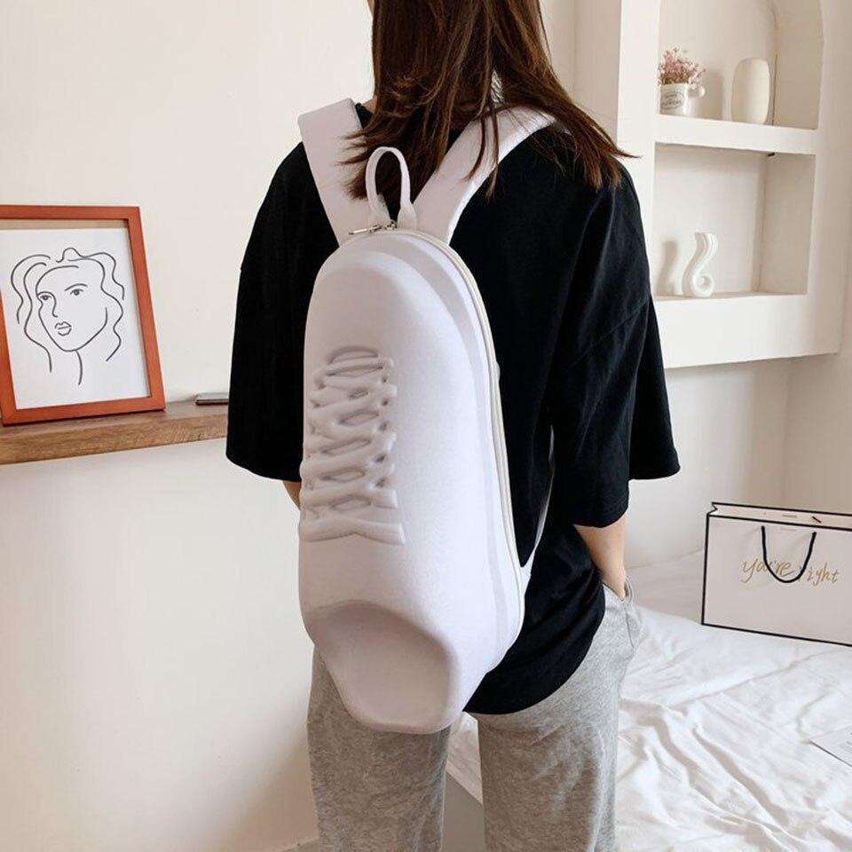 أحذية على شكل حقيبة ظهر بيضاء للرجال والنساء موضة مصمم حقيبة طالب على الظهر الإبداعية هدية عيد ميلاد Mochila Mujer