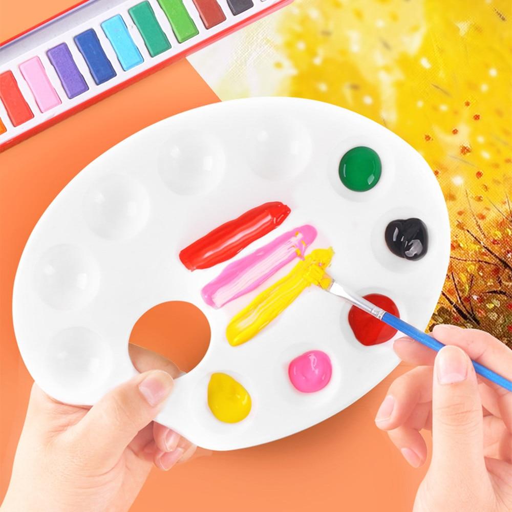 Estudante pintura a óleo palete desenho bandeja cor paleta arte pintura de plástico ferramentas estudante papelaria