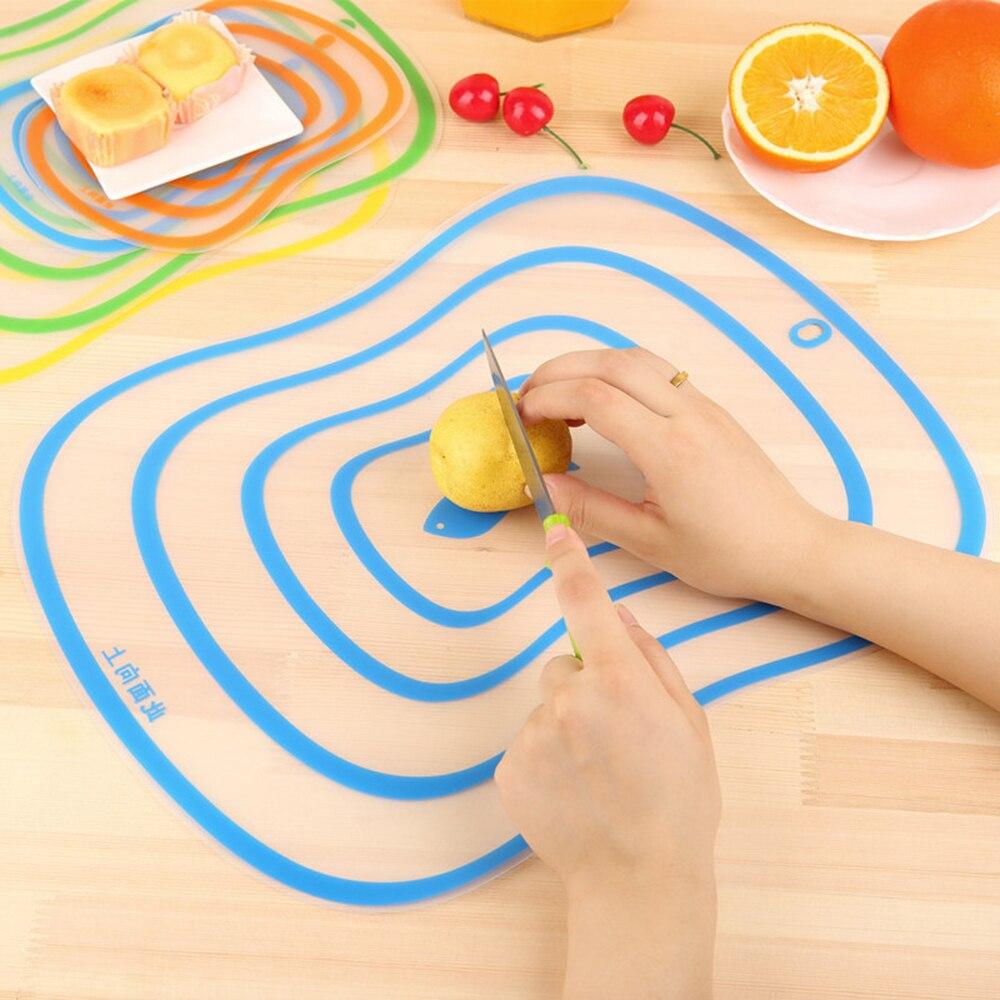 Tabla de plástico antideslizante para picar... utensilio de corte de cocina herramientas...