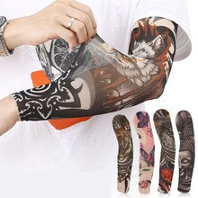 Manicotti da ciclismo per esterni Unisex scaldamuscoli stampati con tatuaggio 3D protezione UV MTB manicotti per biciclette manicotti per bicicletta protezione per braccio