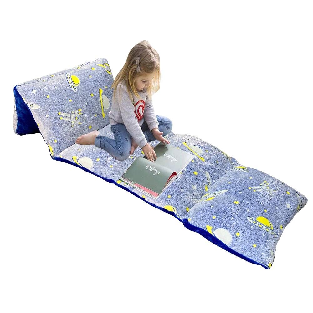 توهج في الظلام وسادة السرير الطابق غطاء lounللأطفال أضعاف خارج وسادة المتسكعون