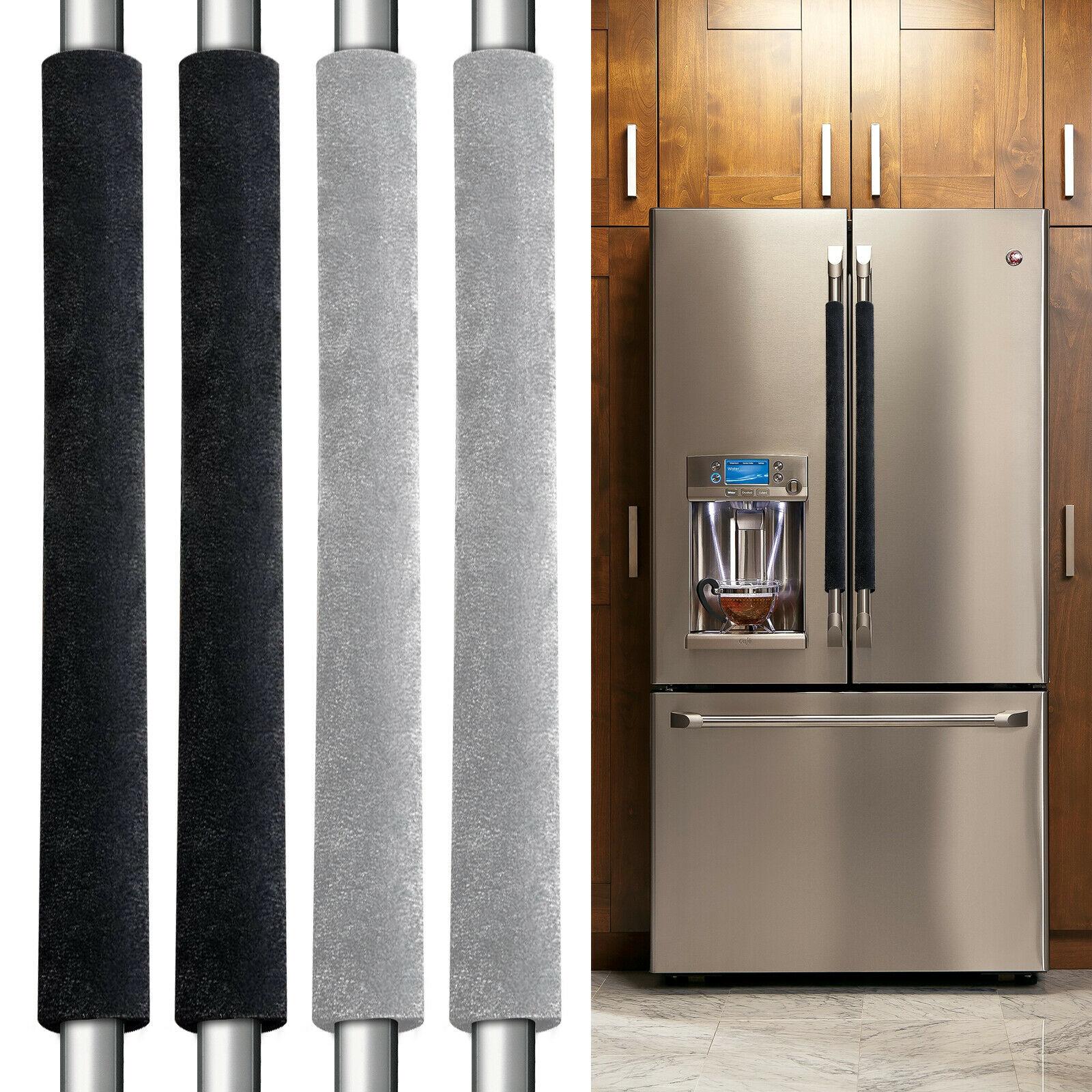 2Pcs/Set Black Grey Refrigerator Door Handle Cover Kitchen Appliance Decor Fridge Oven Handle Antisk