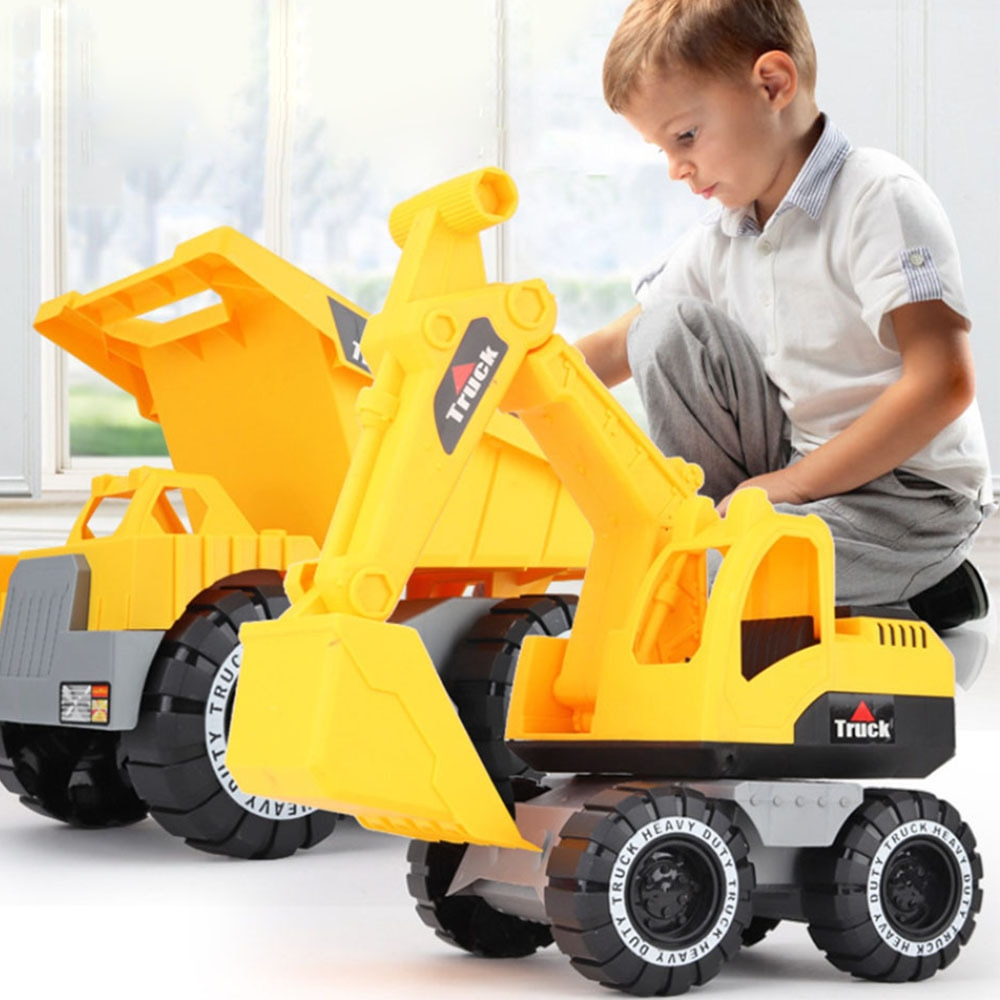 Baby Classic Simulation Engineering Car Toy Excavator Model Vehicle Excavator Model toys for children with toy boys gift