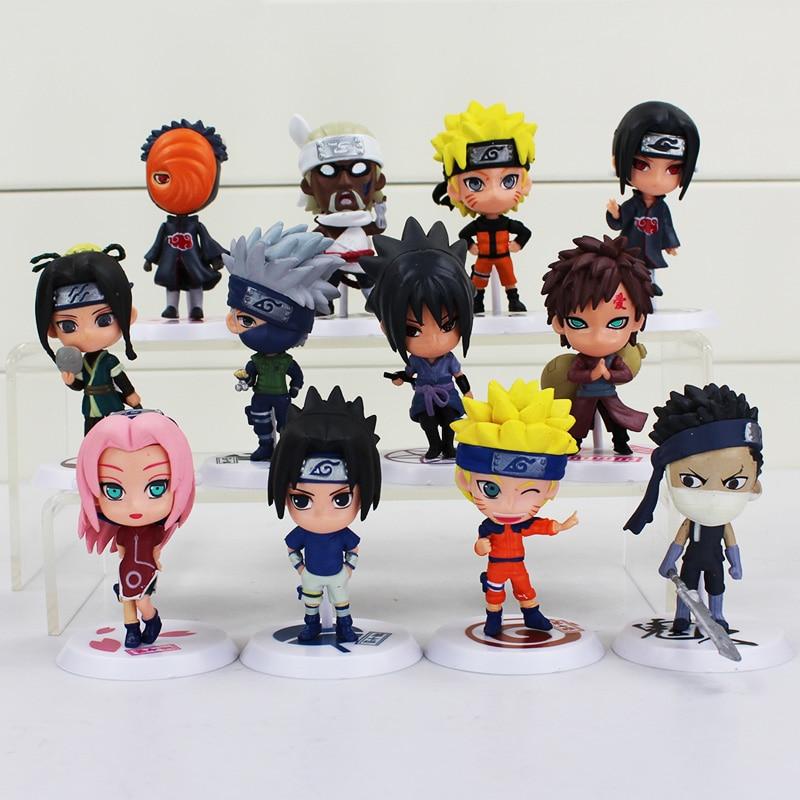 6 pçs/lote 7 centímetros Anime Naruto Figura Toy Sasuke Kakashi Sakura Gaara Itachi Madara Obito Killer Bee Mini Modelo da casa de Boneca para As Crianças