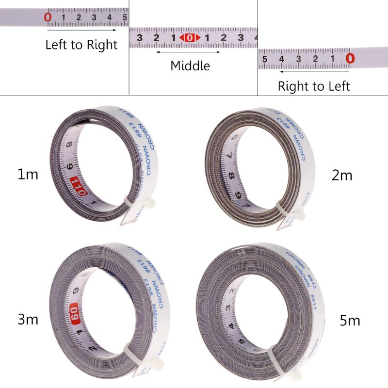 Sierra ingleteadora, cinta de seguimiento, cinta métrica autoadhesiva, regla de acero métrica 1/2/3/5M