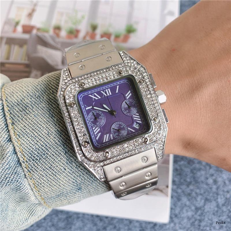 Top Luxury Vintage Oversized Men Quartz Watch Six Needles Full Function Waterproof Business Casual Watches Reloj De Hombre