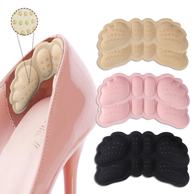 1Pairs Women Insoles for Shoes High Heels Adjust Size Adhesive Heel Liner Grips Protector Sticker Pa