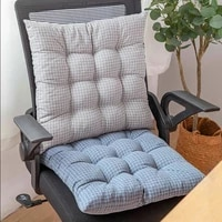 square seat cushion 45x45 japan style cotton linen plaid chair cushion with tie breathable non slip tatami seat mat home decor